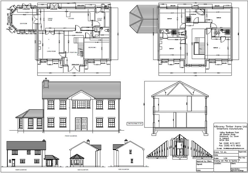 Attractive Complete House Plan Sample #5: Wonderful Complete House ...