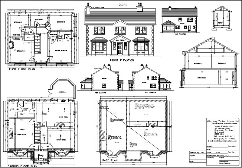 Timberframe homes in ireland and uk kilbroney for Sample building plans